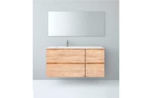 Mueble baño modular 120x46 con seno desplazado