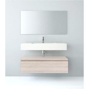 Mueble baño modular 80x46 con faldón encimera mineral